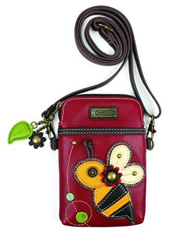(Chala Crossbody Cell Phone Purse-Women PU Leather Multicolor Handbag with Adjustable Strap - Bee)