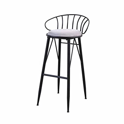 Amazon.com: Bar Stools Black Metal Modern Kitchen Dining ...