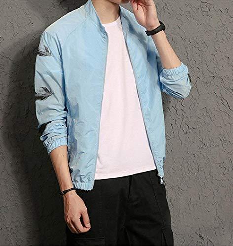 Baseball Crema Solido Coreano Stampa Uomini Colore Abbigliamento Blau Usura Di Ntel Giacca Di Cappotto Sezione Autunno Allentata Huixin Versione Nuova Abbigliamento Di Degli Solare Casual Sottile wSSfzqa