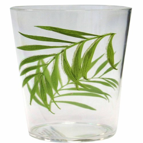 Corelle Coordinates Bamboo Leaf Acrylic Rock Glasses, 14-Ounce, Set of 6 by CORELLE Corelle Coordinates Bamboo Leaf