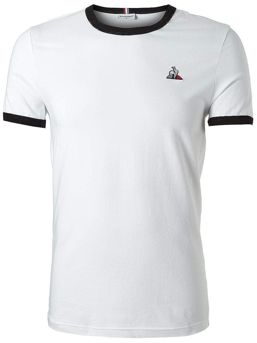 Le Coq Sportif Camiseta ESS tee Hombre Blanco M: Amazon.es: Ropa y ...