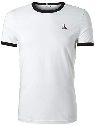 1238c912db Le Coq Sportif Mens Essentials Short Sleeve T-Shirt White S | Amazon.com
