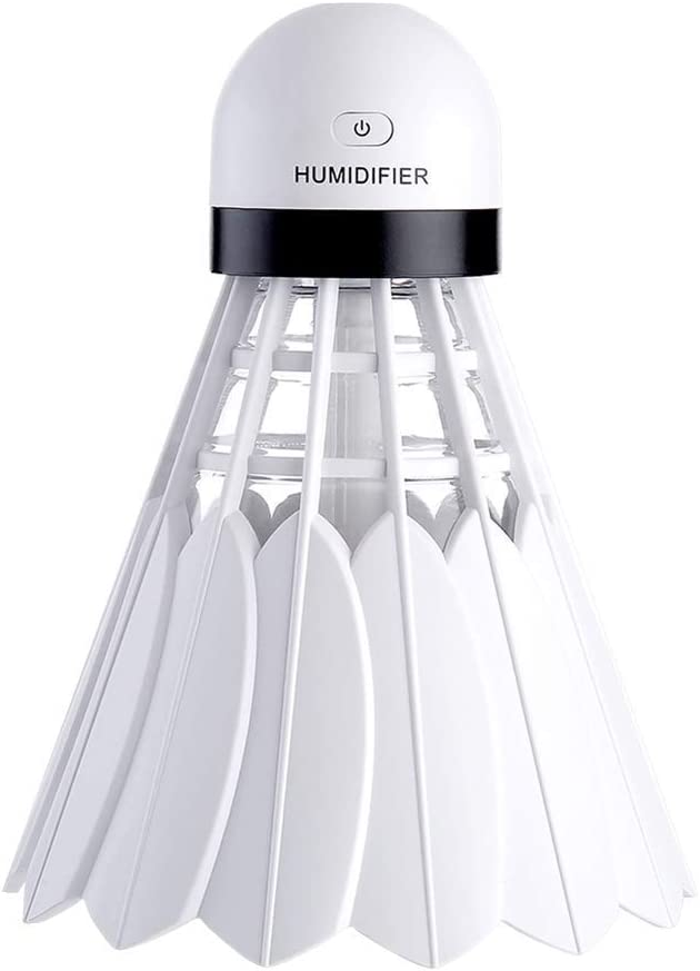 night can be a night light 12 hours of long-lasting moisturizing you can put it on the babies kids room Rorsche badminton humidifier living room bedroom bedside or other places. White