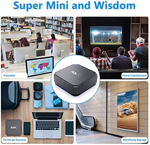 Mini PC, Windows 10 Pro(64-bit) Intel Celeron J3455 Processor(up to 2.3GHz) Mini Computer,8GB DDR3 120GB SSD,Dual Display at 4K HD,2.4G+5G Dual-Band WiFi,Gigabit Ethernet,BT 4.2
