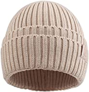 PESAAT Autumn Winter Fisherman Beanie for Men Women Knitted Hat Solid Color Unisex Hedging Cap