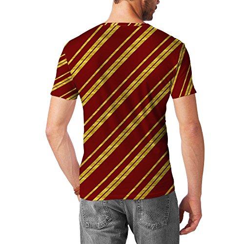 Gryffindor House Stripes Mens Cotton Blend T-Shirt Herren