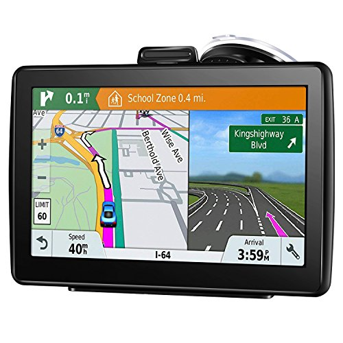 GPS Navigation for Car, 7 Inch 16GB HD Touch Screen Built-in Android System GPS Navigation System Spoken Turn-by-Turn Directions for Car Vehicle GPS Navigator with Lifetime Map Update (Best Built In Navigation System)