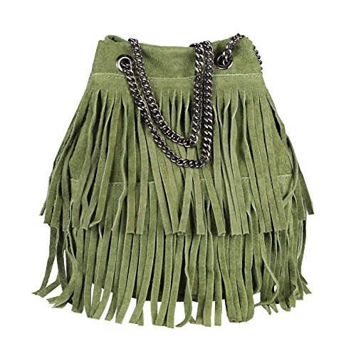 Cm 20x25x19 Obc bxhxt Only A Beige Mano 26x22x15 Dunkelgrün Donna beautiful couture Marrone Borsa qgxOwqv1