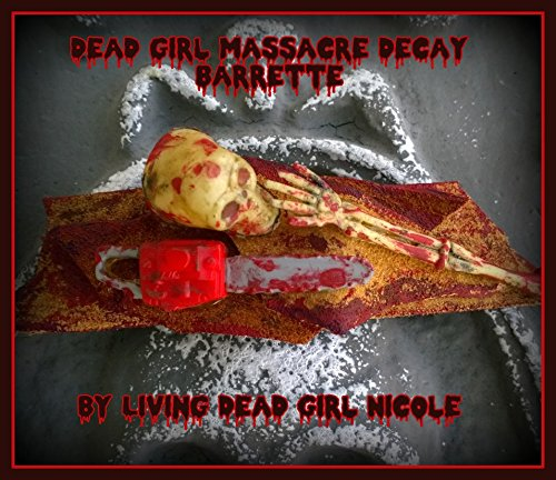 Hair Barrette: Dead Girl Massacre Decay - Leatherface At Work - Horror Movie Halloween Chainsaw Skeleton Bloody Gore Handmade Accessory]()