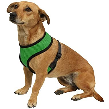 OxGord Pet Control Harness for Dog & Cat Easy Soft Walking Collar, Small, Hunter Green