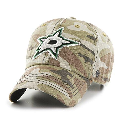 '47 NHL Dallas Stars Women's Sparkle Camo Clean Up Hat, Women's, Faded Camo