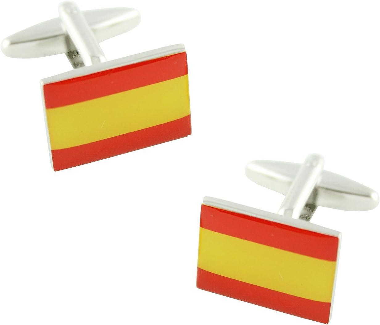 MasGemelos - Gemelos Bandera España Lisa Cufflinks: Amazon.es: Joyería