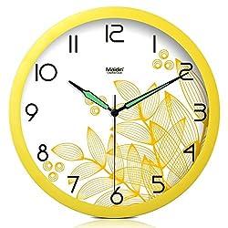 Living room quiet wall clock/ simple pastoral wall clock/Creative luminous hands resin wall clock-D 10inch