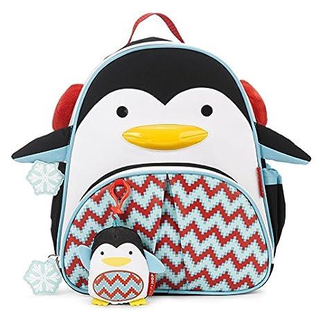 Skip Hop 212501 Penguin Zoo Winter - Juego de mochila infantil con llavero de peluche, diseño de pingüino: Amazon.es: Bebé