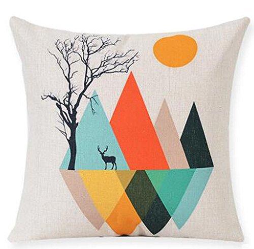 Mountains Cotton Pillow Cushion Decorative