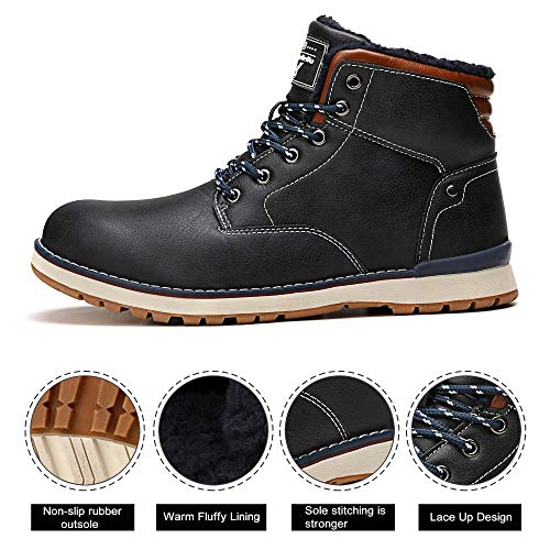 Sportive Da Stivali Uomo Invernali Pelliccia Escursionismo Caloroso blu Neve Scarpe Boots Abtop Caviglia A8387 Allineato Piatto Stivaletti xw7IqdI5