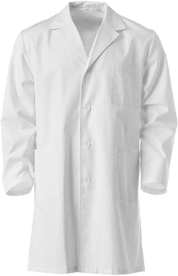 LinLink - Blusa blanca para niños, clásica, manga larga, camisa, blusa larga, camisa, blusa para mujer, hombre, unisex, blanco: Amazon.es: Bricolaje y herramientas