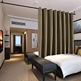 Cheap Deconovo Privacy Room Divider Curtain Thermal Insulated Blackout Curtains Screen Partition Room Darkening Panel for Apartment, Studio, 15ft Wide x 8ft Tall 1 Panel Khaki