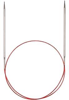 Addi Turbo – Agujas de Tejer Circulares, para Encaje, Metal, White Bronze,