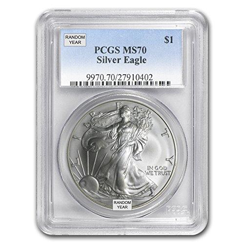 1986-2016 Silver American Eagle MS-70 PCGS (Random Year) 1 OZ MS-70 PCGS