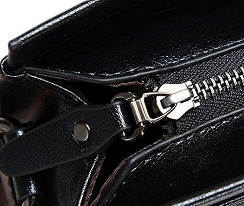 Bolso Del Paquete Diagonal Bolso De Los Hombres De Moda Maletín De Negocios Portable De Los Hombres De Todas Formas Para La Navidad Brown