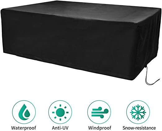 CosyInSofa Funda para Muebles de Jardín, Copertura Impermeable para Mesas Rectangular, Funda Protectora Anti-UV para Patio Muebles Sillas Sofás Mesas Cubierta de Exterior Oxford (242x162x100cm): Amazon.es: Jardín