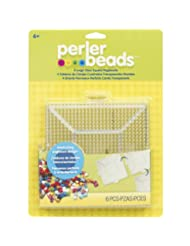 Perler Fused Bead Pegboard, Square, Large, Clear