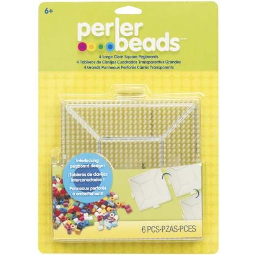 Perler Fused Bead Pegboard Square Large Clear
