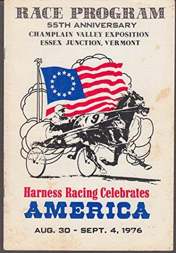 Champlain Valley Expo Harness Racing Program 9/1 1977 Essex Jct VT