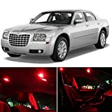 Chrysler 300 2005-2010 Red Premium LED Interior Lights Package Kit (6 Pieces)