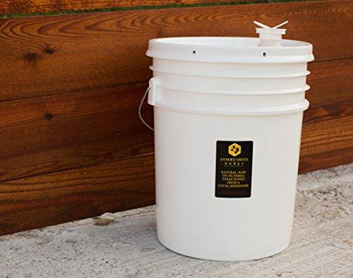 Desert Creek Honey 5 Gallon (60 lbs) Bucket Raw, Unfiltered, Unpasteurized American Honey in Bulk by Desert Creek Honey