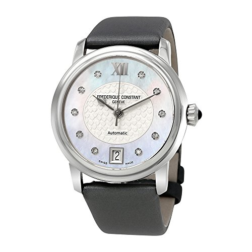 Frederique Constant Heart Beat Automatic Steel Womens Watch MOP & Silver Dial FC-303WHD2P6