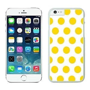 Customized Polka Dot White and Yellow iPhone 6 Plus Case White