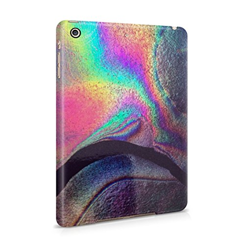 Rainbow Hippie Holographic Print Pastel Acid Trippy Marble Plastic Tablet Snap On Back Case Cover Shell For iPad Mini 2 & iPad Mini 3