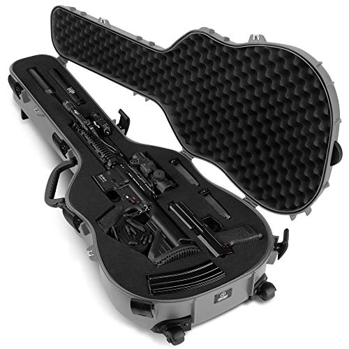 "Savior Equipment Tactical Discreet Rifle Carbine Shotgun Pistol Gun Carrier Ultimate Guitar Case - Fit Up to 45"" Firearm, Concealed Carry, Lockable Design"