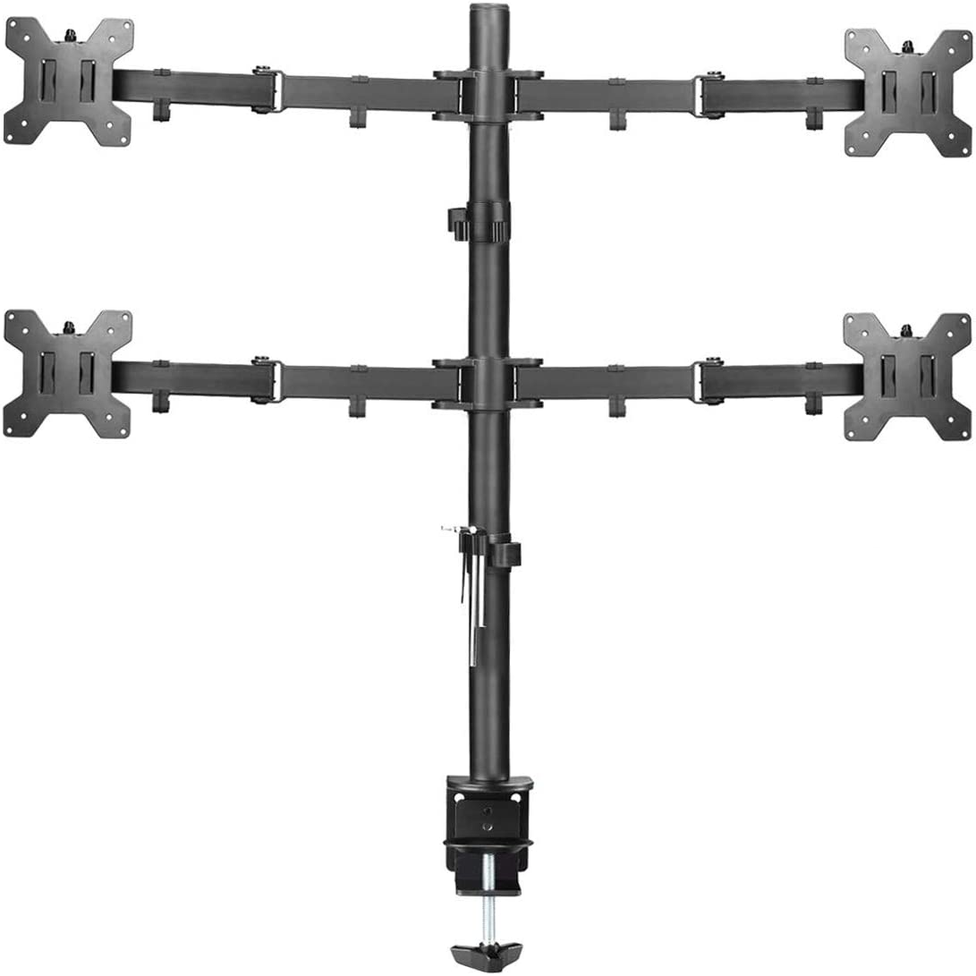 Suptek 4画面 80cm クランプ式 モニターアーム 液晶ディスプレイ スタンド 13-27インチ対応 水平多関節 耐荷重10kg(1台) VESA規格75-100mm MD6884