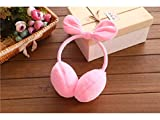 Pullic Lovely Three-Dimensional Bow Earmuffs Running Cycling Ski Snow Ear Muffs Headband for Ladies(Pink)