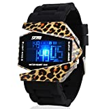 Men's or boys's camouflage aircraft military style wristwatch,Unique colorful led luminous american fighters waterproof electronic sports jelly vintage watch for kids or couples -A