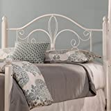 Hillsdale 1862HFQW Wood Post Headboard without Frame, Full/Queen, Textured White