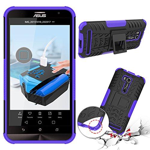 OFU®Para Asus Zenfone Go TV ZB551KL Smartphone, Híbrido caja de la armadura para el teléfono Asus Zenfone Go TV ZB551KL resistente a prueba de golpes contra la lucha de viaje accesorios esenciales del púrpura