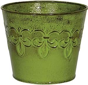 """Robert Allen Home & Garden MPT01888 Fluer De Lis Planter, 4"""", Tansy Green"""