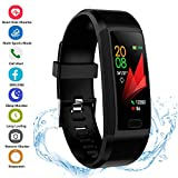 XUNPAZ Fitness Tracker Activity Tracker Watch with Heart Rate Monitor Waterproof Smart Fitness Band Step Counter Calorie Counter Pedometer Watch for Kids Women and Men (Black)
