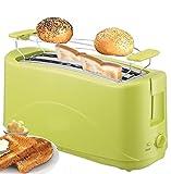 Toaster 4 Scheiben Langschlitz Toster Toastautomat 1300 Watt Schwarz, Pink (grün)