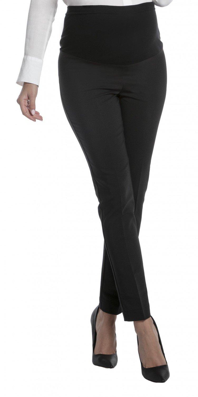 Zeta Ville - Womens Maternity Smart Pants Tailored Work Long Trousers - 206c (Black, US 2, XS)