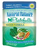 Natural Balance Platefulls Indoor Turkey, Salmon, and Chicken Formula in Gravy Entrée for Cats, (Pack of 24, 3-Ounce Pouches), My Pet Supplies