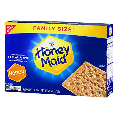 Graham Squares Cracker (Nabisco Honey Maid Honey Grahams Family Size. (25.6 Ounce Boxes, 2-Pack))