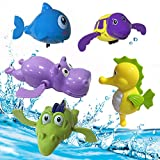 Best Baby Einstein Baby Tub Toys - JollySweets 5PCS Wind Up Swimming Animals Bath Toy Review