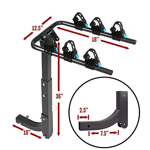 Galaxy Auto Swing Away Hitch Mount Bike Rack for 2 Bikes - Fits 2'' Receivers ONLY by Galaxy Auto (Image #2)