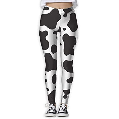 f822ad5d408032 Amazon.com: edawplan Cow Spots Print Womens Full-Length Sports Running Yoga  Workout Leggings Pants Stretchable: Clothing