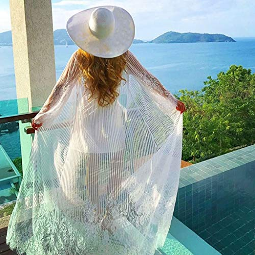 02fa5cb3718a7 Women Swimwear Coverups Tronet Women Bathing Bikini Swimsuit Swimwear  Chiffon Sunscreen Blouse Beach Cover Up White at Amazon Women s Clothing  store